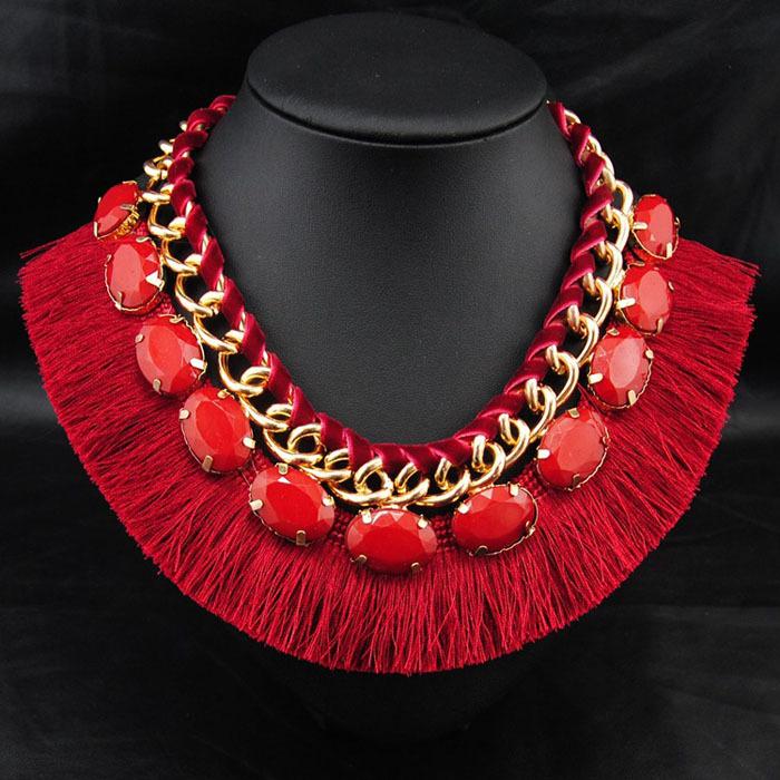 Moda collar babero bijoux femme hechos a mano bib collares collar etnico  mujer cuerda de cuero joyería del nativo americano