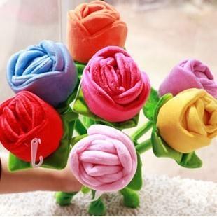 Rose plush toys artificial flower cartoon bouquet holding flowers curtain flower(China (Mainland))