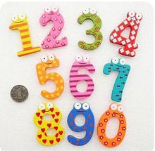 10 Number Figure Educational Kids Children Wooden Refrigerator fridge magnet Toy(China (Mainland))