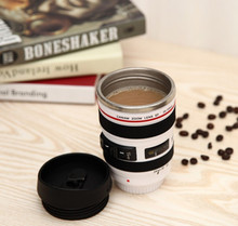 High Quality 400ml Camera Lens Mugs Stainless steel liner Lens Mug Coffee Tea Milk Cup Novelty Gifts Thermocup Thermomug(China (Mainland))