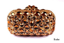 Rhinestone Evening Bags 2015 New Fashion High Quality Brand Design Crystal Fashion Small Women Bags For