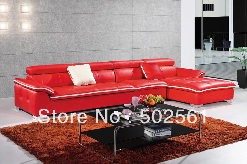 2014 new modern functional real top grain leather corner sofa leisure living room furniture(China (Mainland))