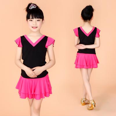 2015 new Children Latin dancedress Dance Costume Latin dance dress for girl with safety pants latin costumes free shipping(China (Mainland))