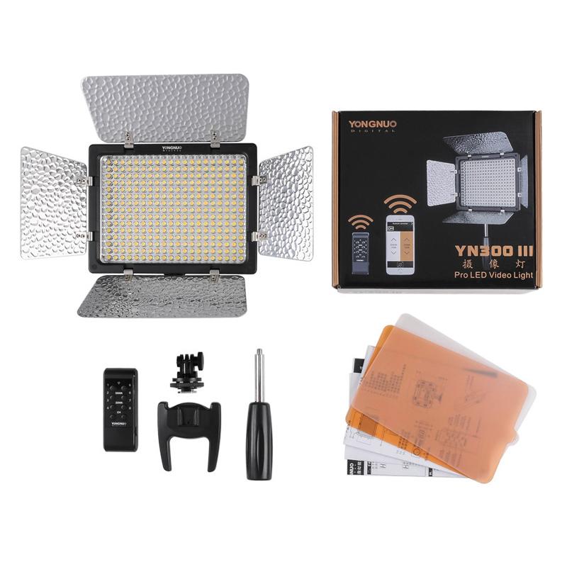 Yongnuo YN300 III YN-300 lIl 5500K CRI95+ Pro LED Video Light with Remote Control,Support AC Power Adapter &amp; APP Remote<br><br>Aliexpress