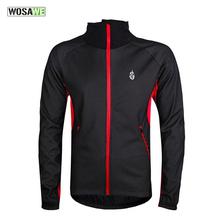 Buy WOSAWE Men Fleece Thermal Winter Wind Cycling Jacket Windproof Bike Bicycle Coat Clothing Long Sleeve Jersey Waterproof for $32.99 in AliExpress store