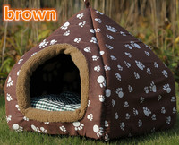 Low Clearance 2016 NEW Lovely Warm Yurt Pet Nest Can Washable Collapsible Kennel Dog Bed Cat House Include Mat 6 color S/M/L