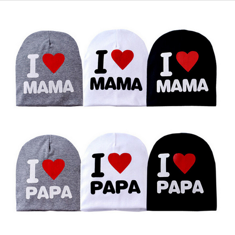 Baby Cap I Love MAMA or PAPA Knit Hat for Kids Infant Boys Girls Children Beanie I Love Mom Toddler Stocking Caps Ali Shipping(China (Mainland))