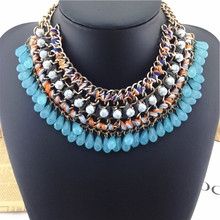 fashion necklaces for women 2014 charm women jewelry Bohemia droplets Necklaces Pendants high quality statement necklace
