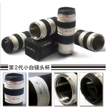 Hot Sale 2014 Camera Lens Mug EOS EF 70-200mm Lens Cup Coffee Tea Mug Travel Stainless Steel Free Shipping
