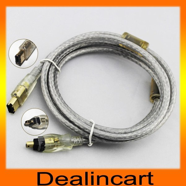 6 to 4 Pin IEEE 1394 FireWire iLink Cable FOR MAC PC