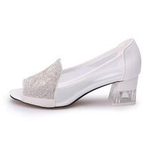 2016 High Wedge Heel Sandals Rhinestone Flower Style Peep toe Transparent Shoes Women s Summer Shoes