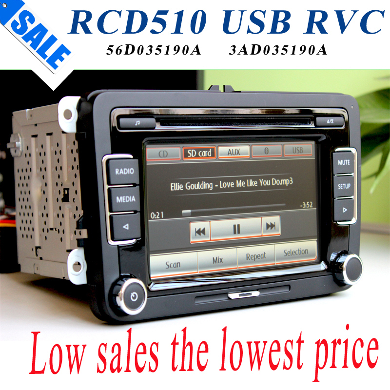 vw car radio stereo rcd510 usb reverse original radio with code for volkswagen rcd 510 golf 5 6. Black Bedroom Furniture Sets. Home Design Ideas