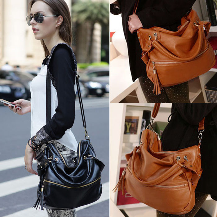 2014new Fashion Women Lady PU Leather Hobo Style Hbag Shoulder Bag with Strap Weekender MessengerTo-Better<br><br>Aliexpress