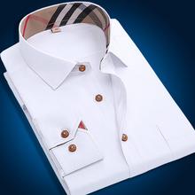 High quality 2015 autumn New Oxford men casual shirts plaid long sleeve mens shirt slim  formal male shirts 4xl free shipping(China (Mainland))