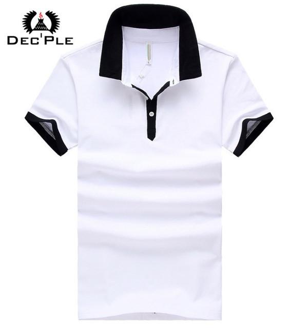 Твердые мужчины рубашки поло мужчины высокое качество топ дизайнер мужской рубашки ...