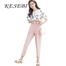 Buy J2FE220#8220 2017 Spring Korean Female Classic High Elastic Waist Harem Pants Women Fashion Slim Solid Color Ankle-length Pants for $12.73 in AliExpress store