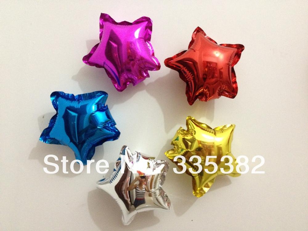 new arrivel 100pcs/lot 5 Inch heart shape Balloons wedding mini foil balloons party decoration helium balloon free shipping(China (Mainland))