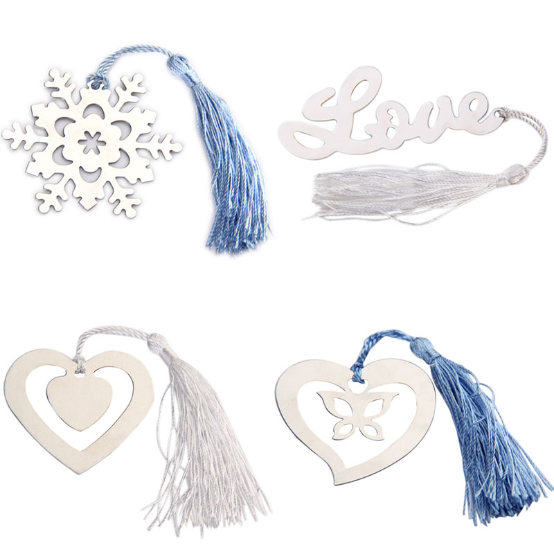 #Cu3 New Stainless Tassel Bookmark Wedding Favors Bridal Shower Bridesmaid Gifts(China (Mainland))