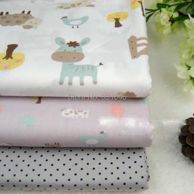 3designs160*100cm Cartoon Child Twill Cotton Patchwork Fabric Diy Handmade Sewing Craft Bedding Home Textile(China (Mainland))