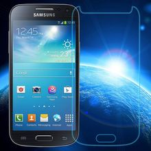 0.3mm Tempered Glass for Samsung Galaxy S4 Mini i9192 i9195 9H Hard 2.5D Arc Edge Round Border Front Screen Protector(China (Mainland))