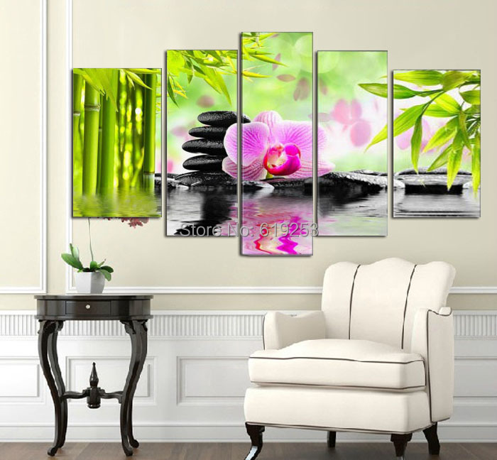 Wall Art Canvas Ready To Hang : Framed painting wall art ready to hang picture hand