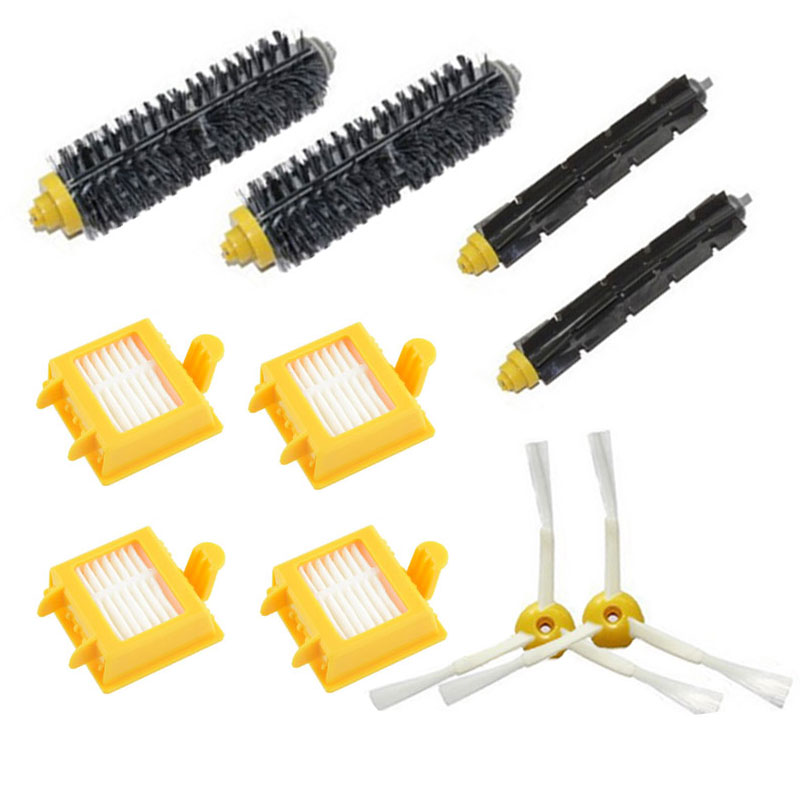 10PCS/lot 3-Armed Side Brush Filter Bristle Brush For iRobot Roomba 700 series 760 770 780 790 Vacuum Cleaner Parts(China (Mainland))