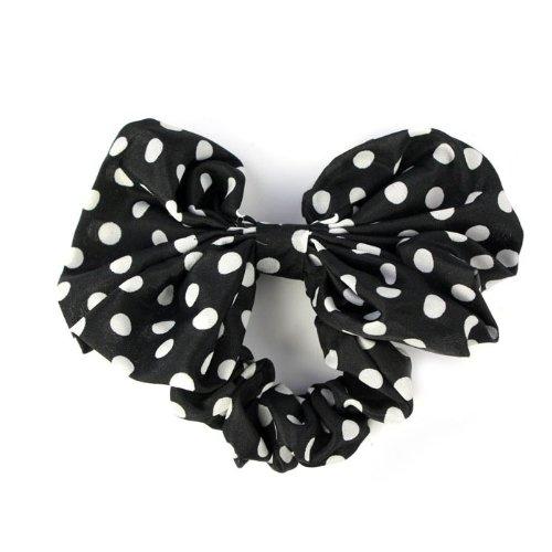 FGGS Girls Rabbit Ear Bow Ribbon Chiffon Headband Hair Band (Black)(China (Mainland))