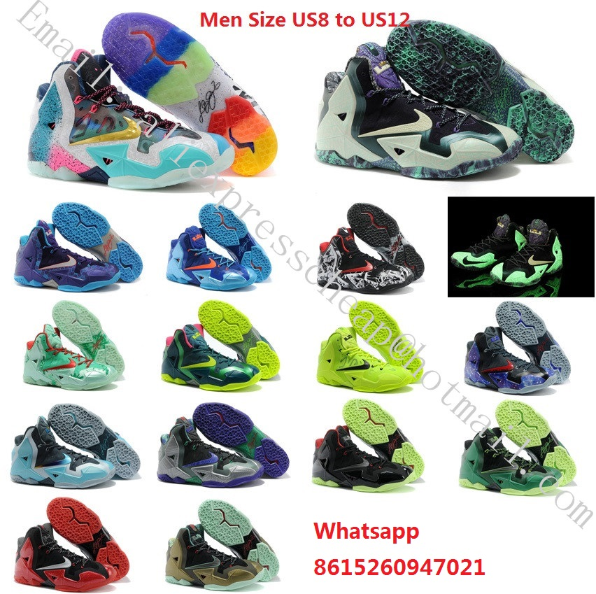 Free shipping new 2016 mens air lbj what lebron 11 xi as bhm red green boots with original box for sale man size US 8 to 12(China (Mainland))