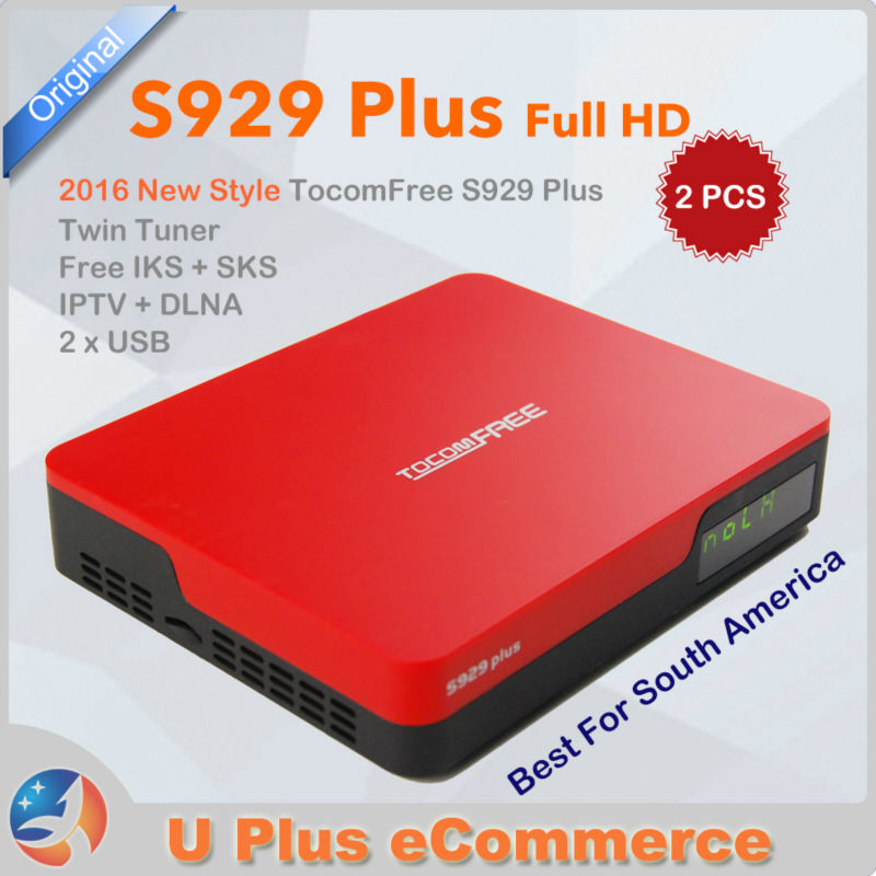 2PC TOCOMFREE S929 Plus Full HD DVB S/S2 Twin Tuner MPEG 2/4 H.264 IKS + SKS Chile Brazil South America IPTV(China (Mainland))