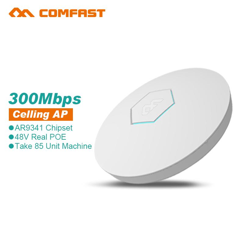 Фотография COMFAST wireless Ap CF-E325N 300Mbps Ceiling AP 802.11b/g/n ATHEROS 9341 Indoor AP 48V POE 16Flash WiFi Access Point 5dBi anenna