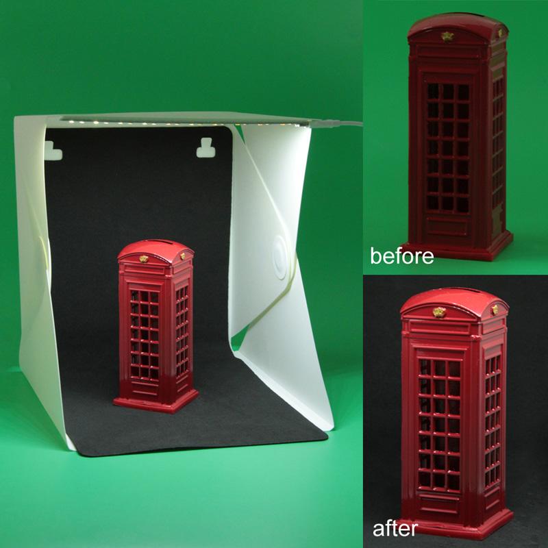 23cm*22cm*3cm Portable Mini Photo Studio Box Photography Backdrop built-in Light Photo Box Photo Studio Accessories(China (Mainland))