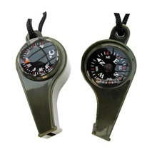 Whistle 3in1 multi-function nylon lanyard Emergency Gear compass&thermometer&survival whistle tools convenient(China (Mainland))