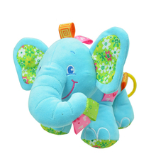 NEW Elephant baby plush toy multifunctional music rattles music box placate toy for Baby Sensory Development Gift LYJ37(China (Mainland))