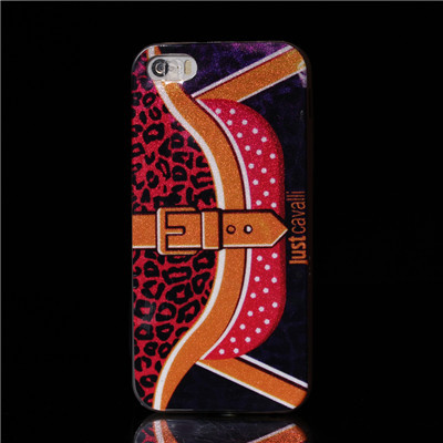 Just Cavalli Luxury Design glitter Skin Soft Tpu back Cover Case For apple iphone 5 5s 5g IMD Craft(China (Mainland))