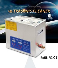 6 L Best ultrasonic cleaning equipment for factory use like jewelry/mold/printer clenaing with timer and heater.discount(China (Mainland))