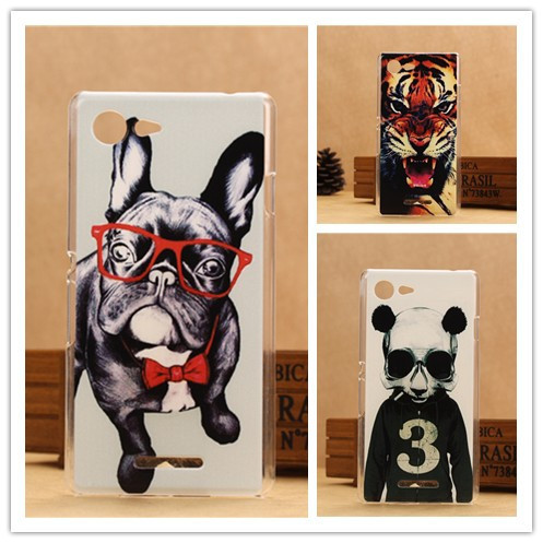 New Fashion 3D Painting Cover Case For Sony Xperia E3 D2203 D2206 & E2 D2303 Hard Plastic Cases PY(China (Mainland))