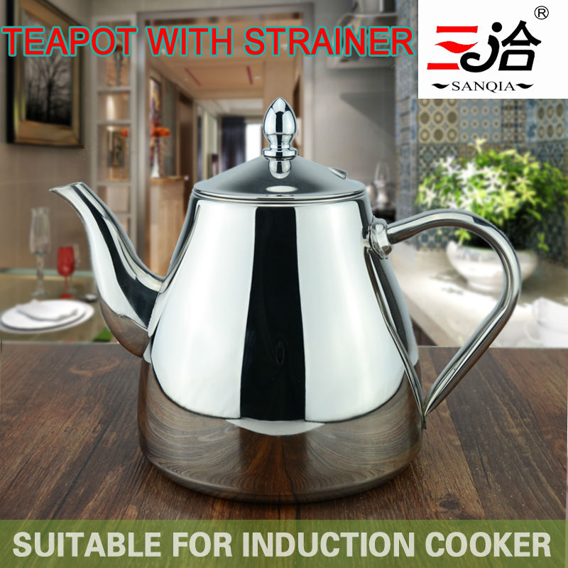new style stainless steel Tea pot and Coffee Drip Kettle pot teapot with strainer stainless steel Kettle hot water for Barista(China (Mainland))