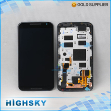 With frame lcd screen display with touch digitizer for Motorola MOTO X+1 X2 XT1092 XT1095 XT1096 XT1097 1 piece free HK post