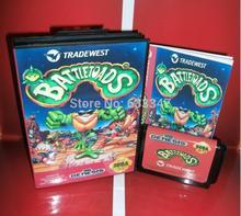 Sega games card – Battletoads with box and manual for Sega MegaDrive Video Game Console 16 bit MD card