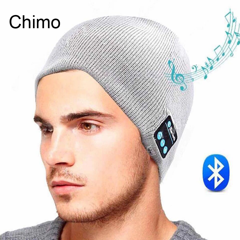 Bluetooth Earphone Hat For IPhone Samsung Android Phones Winter Outdoor Sport Bluetooth Stereo Wireless Music Hat Skullies(China (Mainland))
