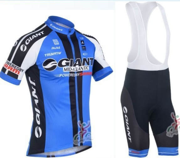 Free shipping! Giant 2013 bib short sleeve cycling jersey wear clothes bicycle/bike/riding jersey+bib pants shorts+gel pad