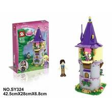2015 New SY324 Disniy Princess Rapunzel's Creativity Tower creative imagination toy 316pcs/set building block toys for girls(China (Mainland))