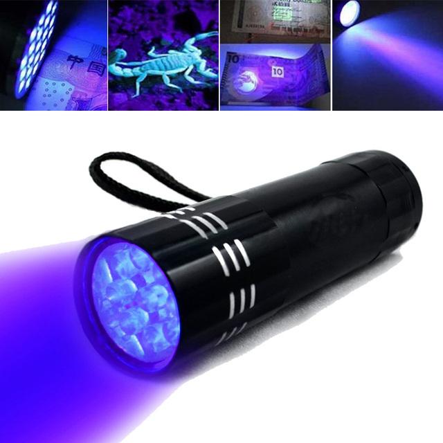 UV Ultra Violet 9 LED Flashlight
