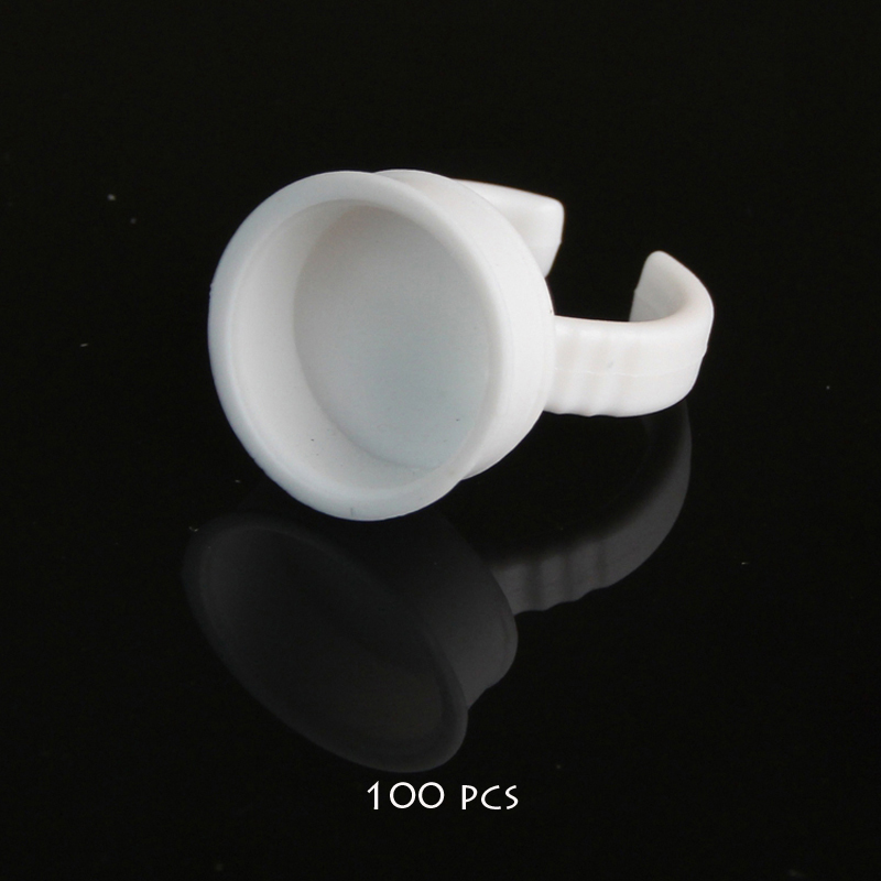 100pcs No Separator Permanent Makeup Easy Ring Ink Container Cup For INK Supply RING cups for tattoo(China (Mainland))