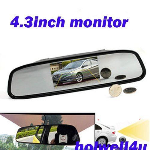 "middle 4.3"" LCD Rear View Car Mirror Monitor for av signal pal or ntsc from camera or dvd player"