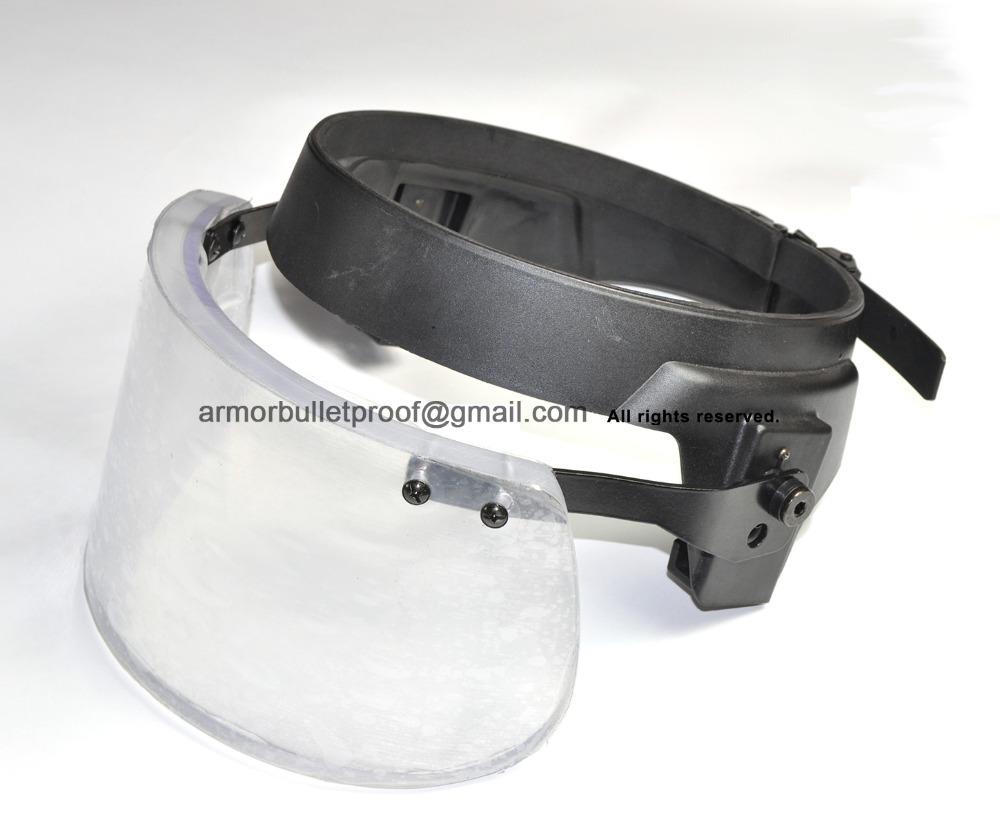 Transparent Bullet Proof Visor Body Armor Glass Helmet Face Shield Level III 3A Mask Ballistic Protection Military Bomb Disposal(China (Mainland))