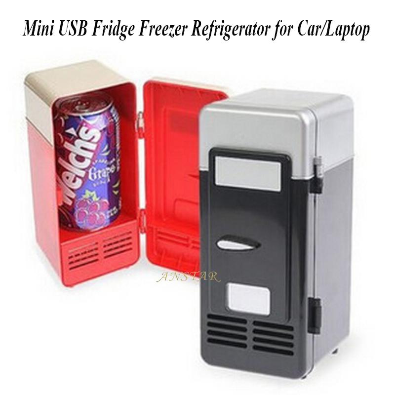 usb fridge cooler gadget Mini USB LED PC Desk Gamer Refrigerator Fridge Beverage Drink Cans Cooler Warmer usb fridge 2 can(China (Mainland))