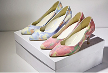 New design women sexy peep toe pump thick high heeled shoes lighter shoes good quality dress
