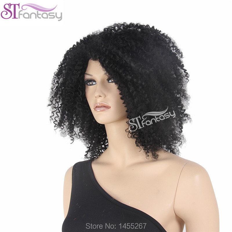 2016  New Free Shipping Super Fashion  African Style Black Afro Wig