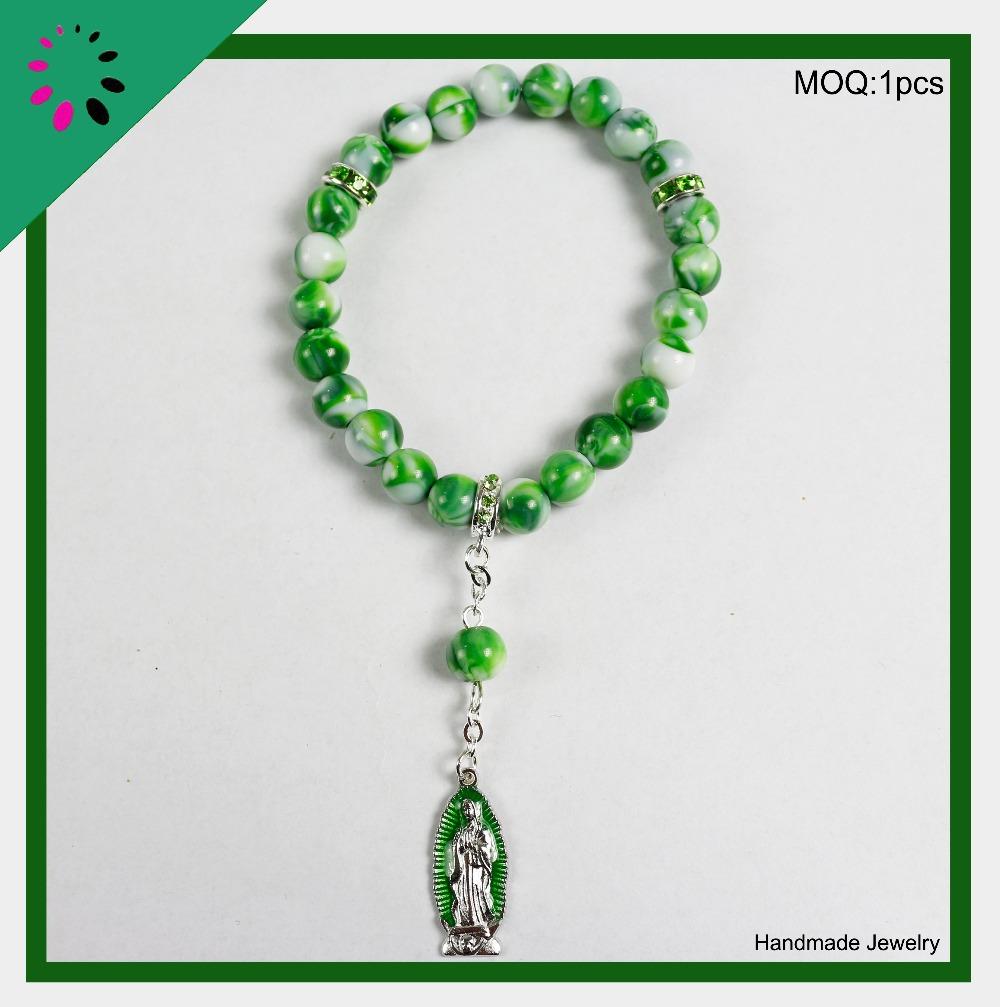 Color Beaded Christian Bracelet Beads Christian Bracelet